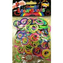 Colourful Loom Bands Inmix Colour (Strawberry Scented 300s) 12 Packs