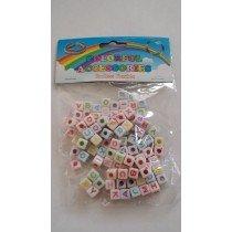 20 X Packs Of Alphabet Loom Band Beads (White)