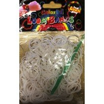 Colourful Loom Bands White Block 300's 12 Packs