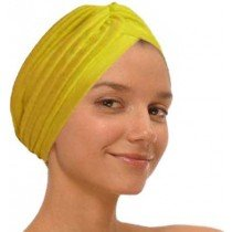 Yellow Fashion Turban Funky Headwrap