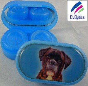 Boxer Furry Friends Contact Lens Soaking Case